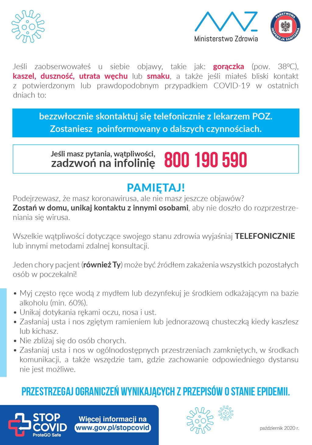 informacje koronawirus www.gov.pl/koronawirus